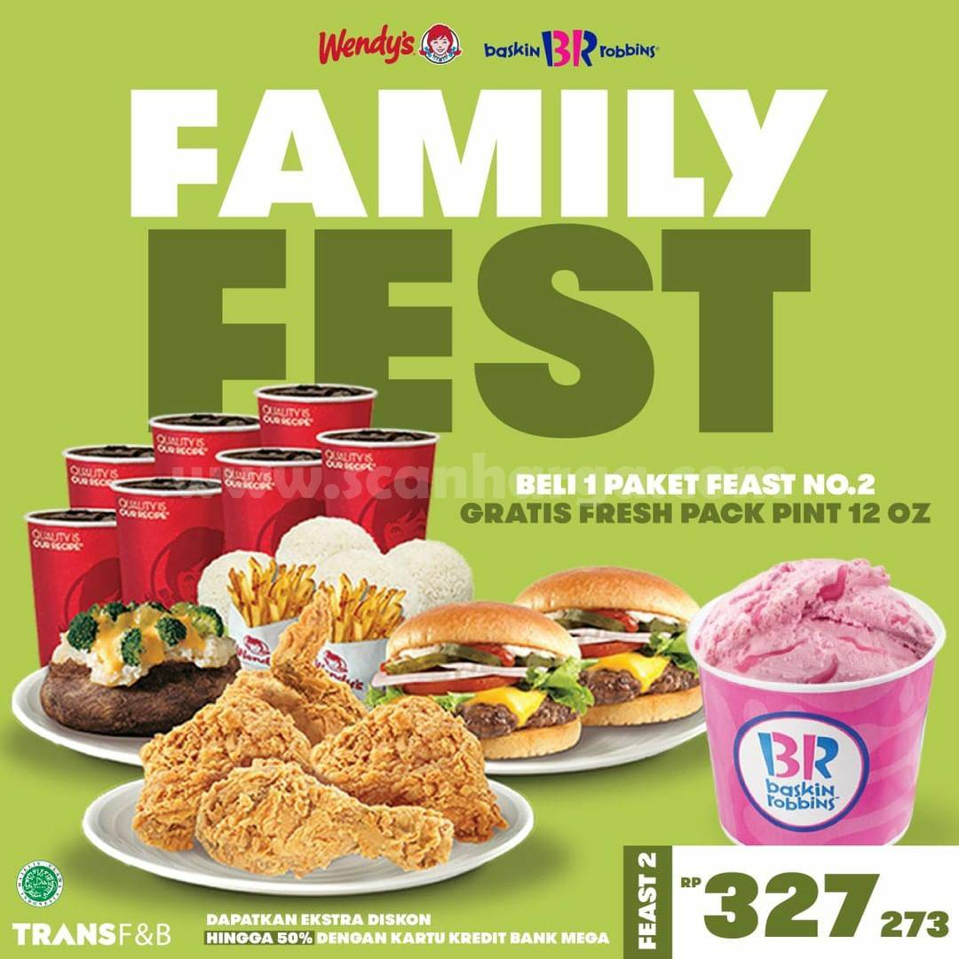 Wendys Promo Family Fest - Gratis Fresh Pack Pint 12 Oz Baskin Robbins