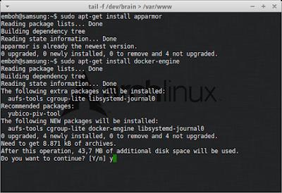 Jika sudah selesai maka tambahkan grup docker dan instal dockernya  sudo usermod -aG docker $(whoami)