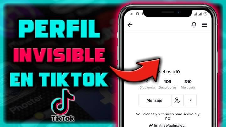 Cómo añadir un nombre y foto de perfil invisible en TikTok