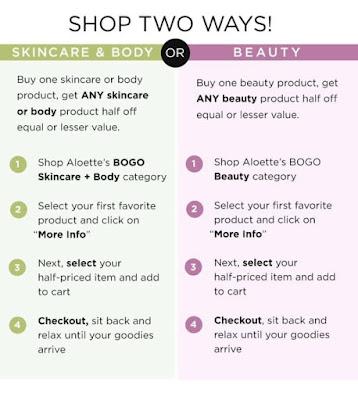 aloette sale, clean beauty sale, skincare sale, makeup sale, BOGO sale, Aloette BOGO sale