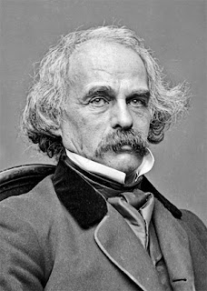 Photographic portrait of Nathaniel Hawthorne, Mathew Brady - public domain