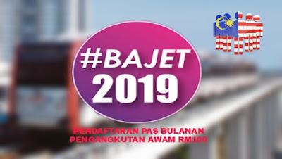Pendaftaran Pas Pengangkutan Awam Bulanan RM100 Tahun 2019