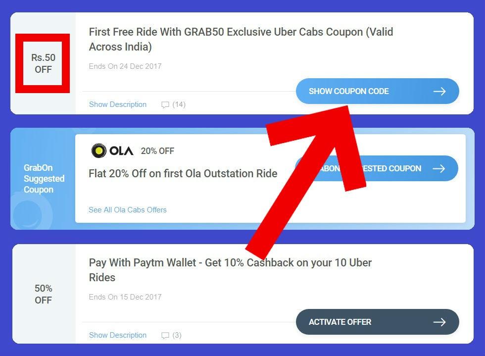 Grabon - Uber İçin Promosyon ve İndirim Kodu Bulmak | Uber Kodları!
