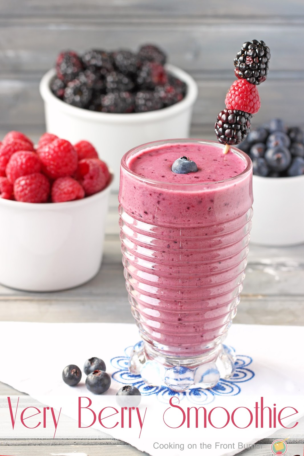 Very Berry Smoothie | Cooking on the Front Burner #energydrink