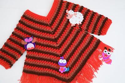 4 - Crochet Imagen Poncho otoñal a crochet y ganchillo por Majovel Crochet
