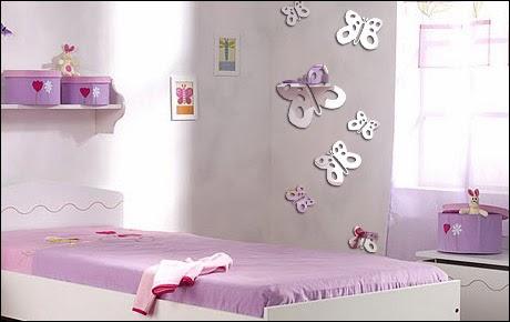 Habitaciones con mariposas dormitorios colores y estilos for Chambre fillette 12 ans