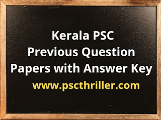 Previous Question Paper Kerala PSC