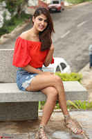 Rhea Chakraborty in Red Crop Top and Denim Shorts Spicy Pics ~  Exclusive 342.JPG