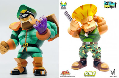 Street Fighter M.Bison & Guile Bulkyz Collection Vinyl Figures by Big Boys Toys x CAPCOM