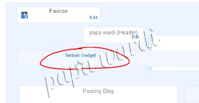 Tambah gadget, Bar menu di blog