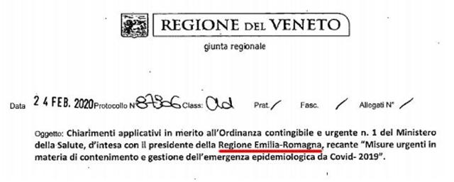 Coronavirus, gaffe ordinanza Regione Veneto
