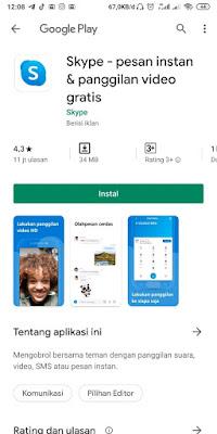 Langkah-langkah menggunakan skype di HP