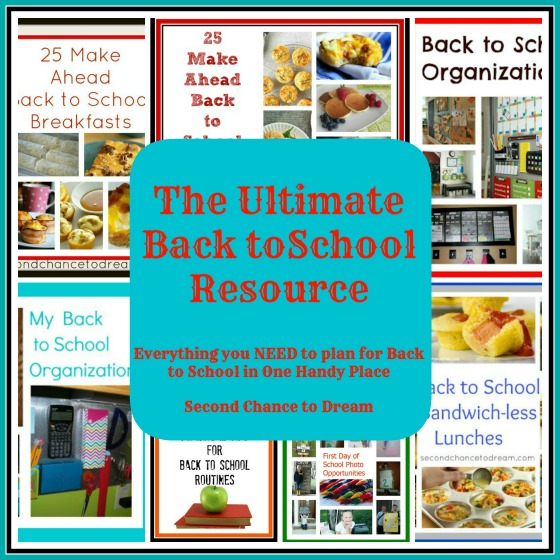 Ultimate Back to School Resource by Second Chance to Dream
