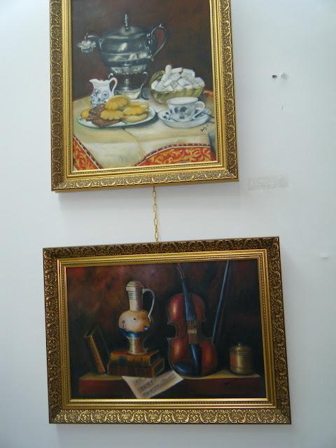 Les peintures de mes élèves à l'expo 8