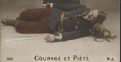 """Poilu mort """"Courage et piété"""""""