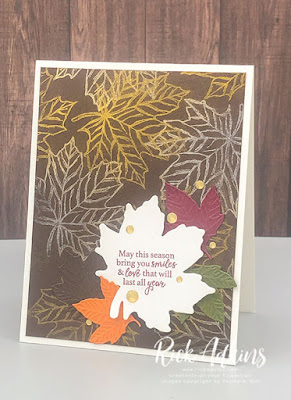 Rick Adkins Independent Stampin' Up! Demonstrator - The Spot Challenge #132 Clean & Simple Fall