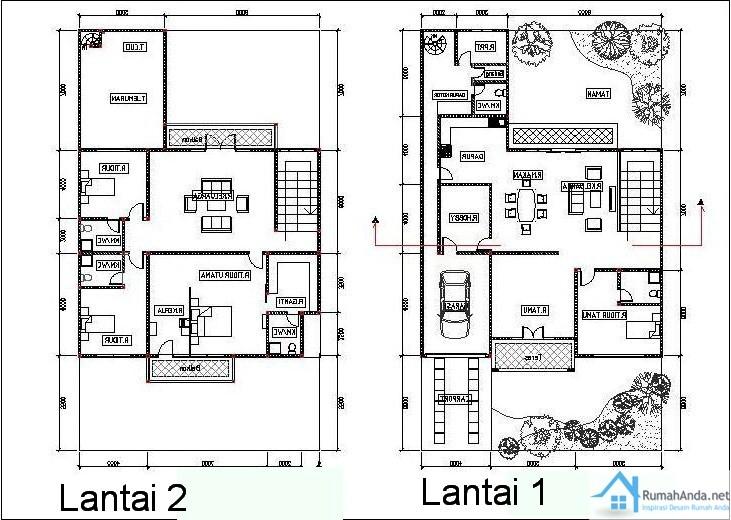 gambar denah rumah lantai 2 ideal 4