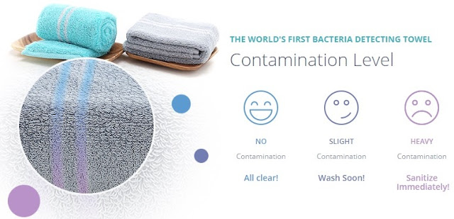 Mizu Towel Detects Bacteria