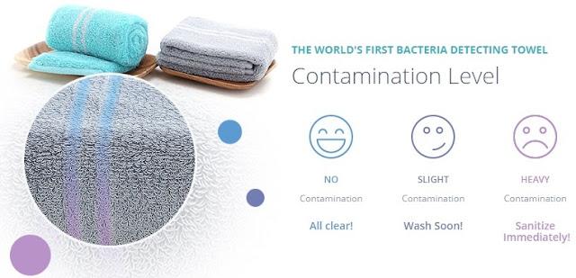 Mizu Towel Detects Bacteria