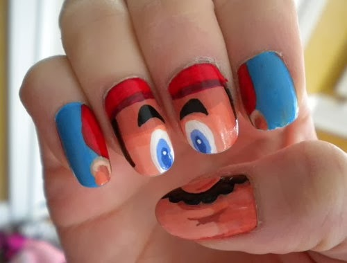 One Hundred Styles: funny nail art designs