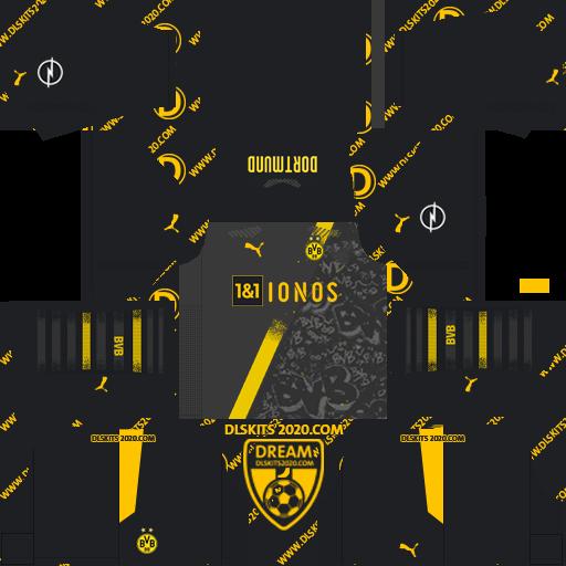 Borussia Dortmund Kits 2020-2021 Adidas For Dream League Soccer 2019 (Away)