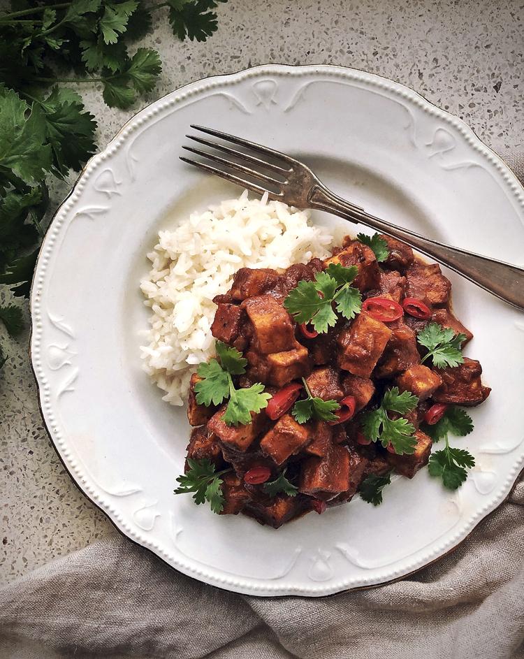 tofua barbeque-kastikkeessa