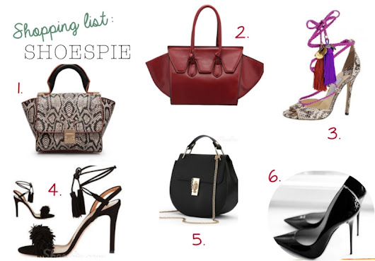Shopping list: SHOESPIE