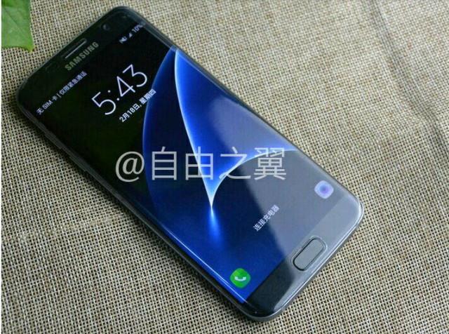 هاتف Galaxy S7 Edge يظهر في صورة مسربة بشاشة في وضعية الاشتغال
