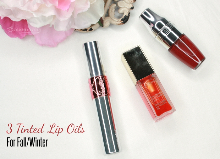 YSL tint-in-oil clarins instant light lip comfort oil lancome juicy shaker