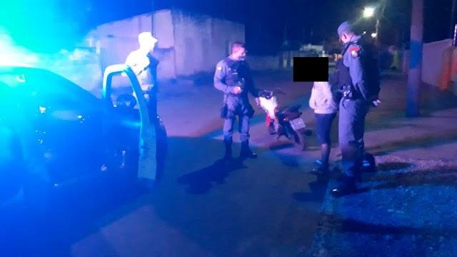 NOBRES: Adolescente foi detido com drogas e pilotando motocicleta sem autorização.