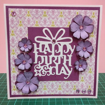 Handmade Purple Birthday Card