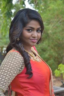 Actress Shalu Shamu Stills in Red Dress at Kekran Mekran Audio Launch 0003