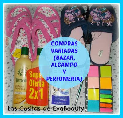 Compras variadas (Bazar, Alcampo y Perfumería local)