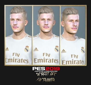 PES 2019 Faces Luka Jovic by RobertPes Facemaker
