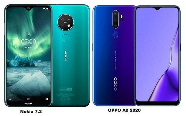 OPPO A9 2020 Vs Nokia 7.2 Specs Comparison