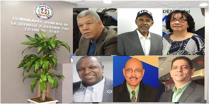 Seis reconocidos dirigentes del PRM aspiran a cónsul en NY  y  esperan uno sea escogido por Abinader