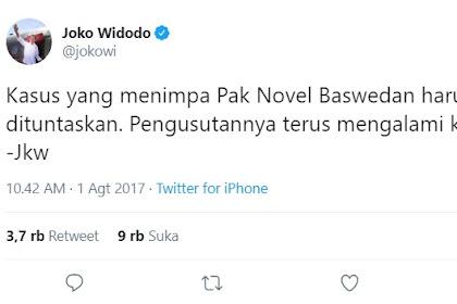 Soal Kasus Novel, Jokowi Sudah Lepas Tanggung Jawab