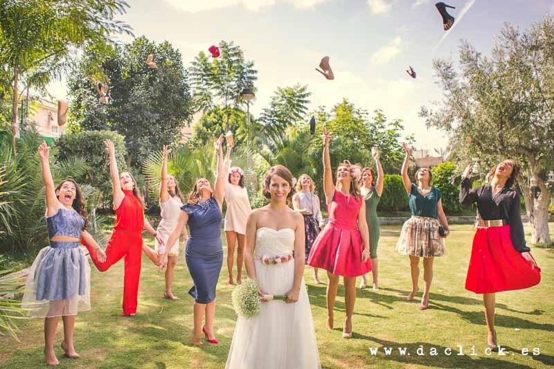 boda novia y amigas
