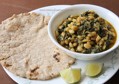 Spinach and White Beans curry