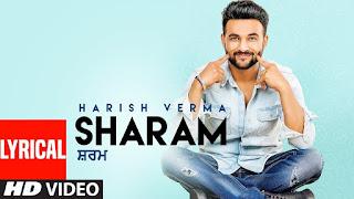 Punjabi song sharam lyrics by harish verma