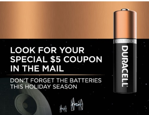 Shoppers Voice Duracell $5 off Coupon
