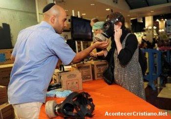Venta de máscaras de gas en Israel