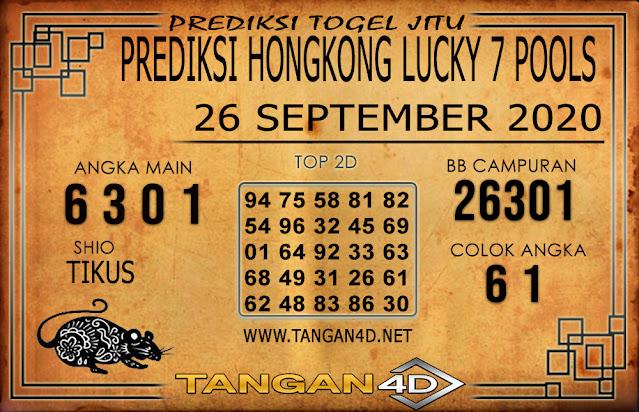 PREDIKSI TOGEL HONGKONG LUCKY 7 TANGAN4D 26 SEPTEMBER 2020