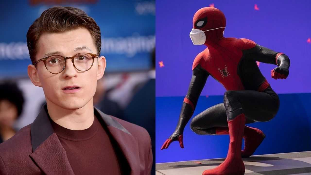 Tom Holland ne Spider-Man 3 ke set se pehli image ko kia share