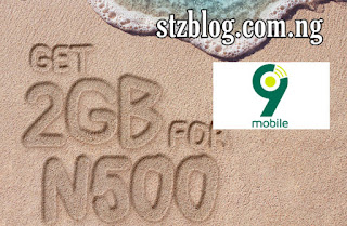 9mobile 2gb for 500 activate