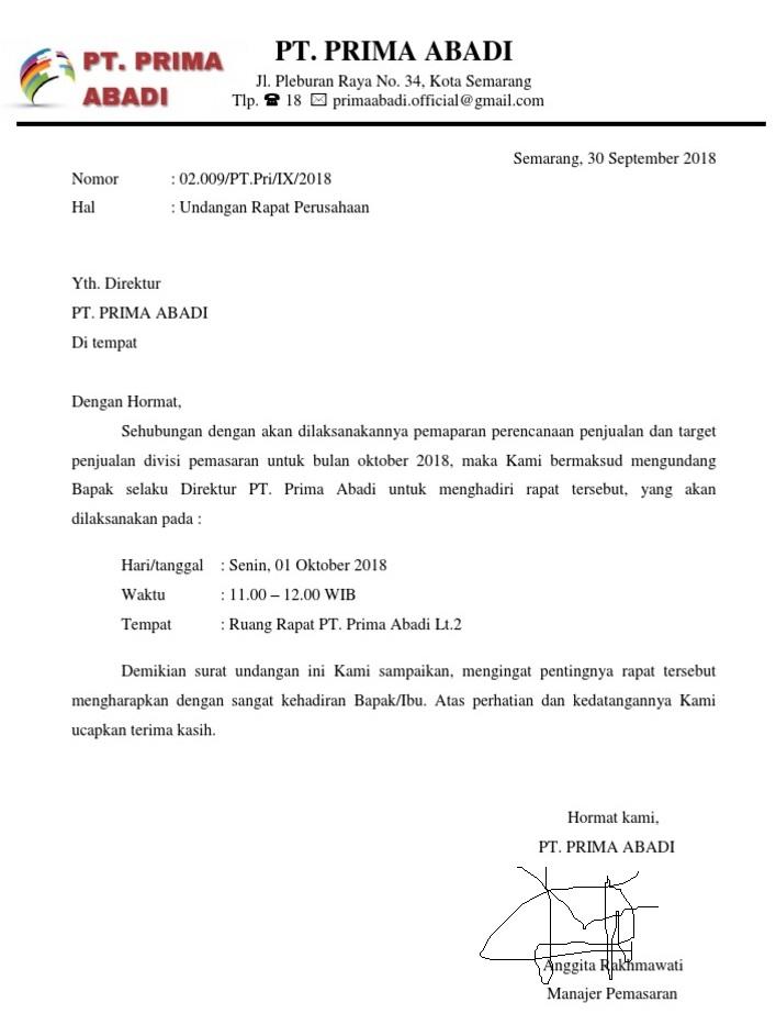 14+ Contoh surat undangan rapat terbaru terbaru