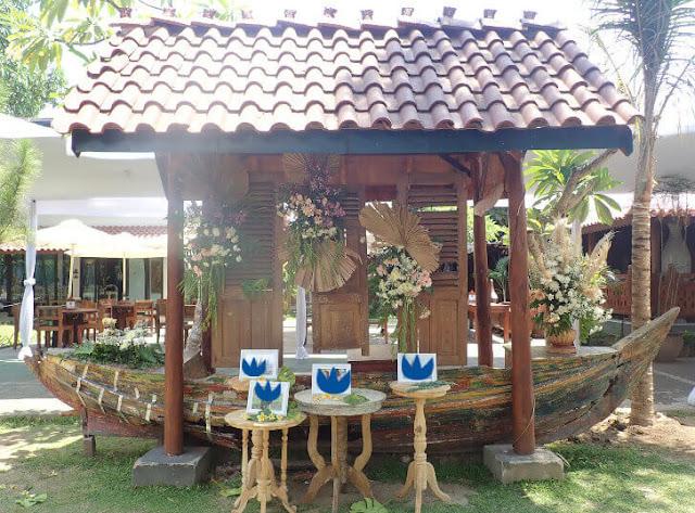 dekorasi pernikahan bilik kayu heritage resto jogja