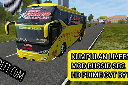 Download Livery Bus SR2 Terbaru MOD BUSSID CVT By MD Creation