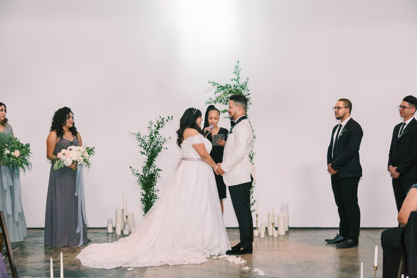 las vegas wedding, altar, tree planting