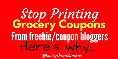 STOP Printing Grocery Coupons from FREEBIE Websites
